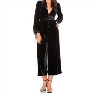 NWT Free People True Lovin Black Velvet Jumpsuit